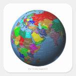 Oriente Medio en el globo Pegatina Cuadrada