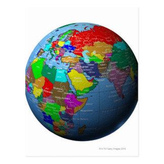 Oriente Medio en el globo Tarjetas Postales