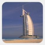 Oriente Medio, United Arab Emirates, Dubai, Burj Pegatina Cuadrada