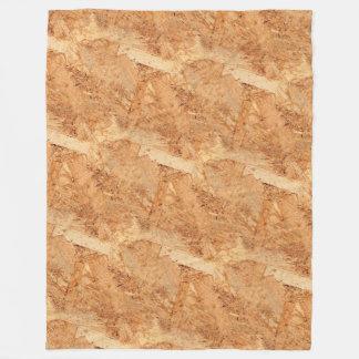 oriented strand board - OSB seamless pattern Fleece Blanket