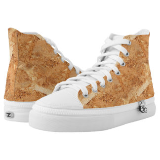 oriented strand board - OSB seamless pattern High-Top Sneakers