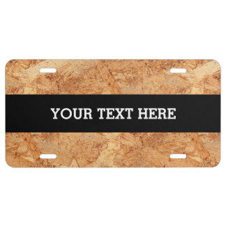 oriented strand board - OSB seamless pattern License Plate