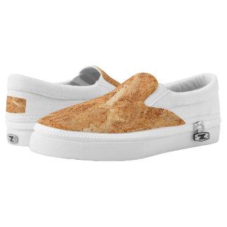 oriented strand board - OSB seamless pattern Slip-On Sneakers