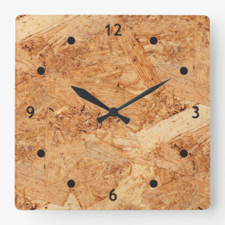 oriented strand board - OSB seamless pattern Square Wall Clock
