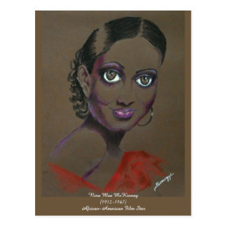 Orig Art/Black Filmstar Nina Mae McKinney Postcard