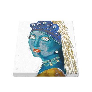 """Orig. Painting """"Belly Dancer w/ a Pearl Earring"""" Canvas Print"""