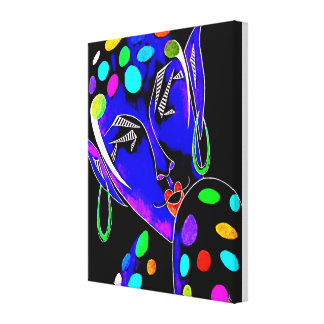 "Orig. Painting ""Fey"" -- Polka Dot Fairy/Elf Canvas Print"