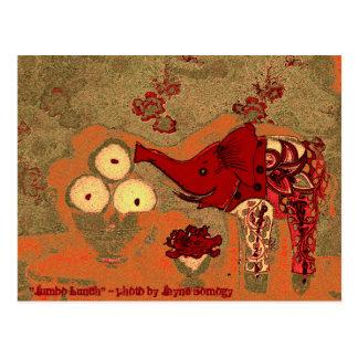 Orig. Photo--Red and Orange Elephant w/Apples Postcard