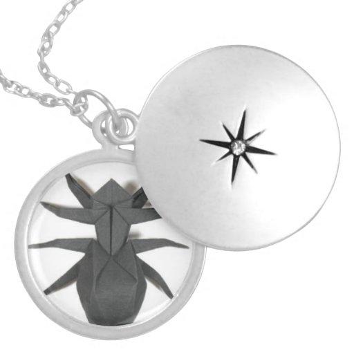 """Origami Attack spider"" Necklace"