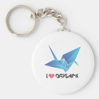 origami bird keychain