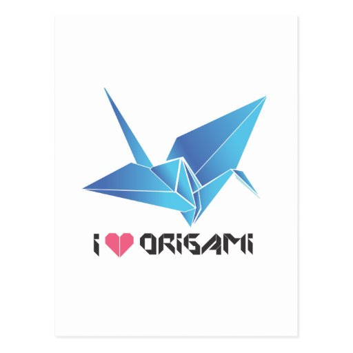 origami bird postcard zazzle