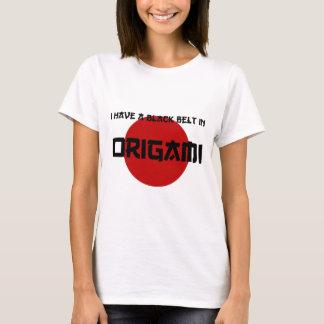 Origami Black Belt T-Shirt