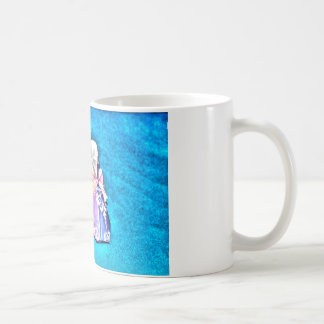 ORIGAMI BLUE BABY SHOES JAPANESE PAPER ART COFFEE MUG