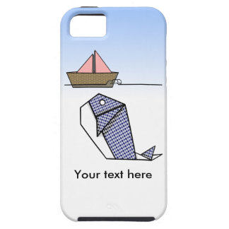 Origami Blue Whale And Paper Boat iPhone SE/5/5s Case