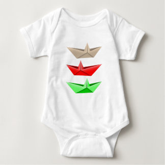 Origami Boats Baby Bodysuit