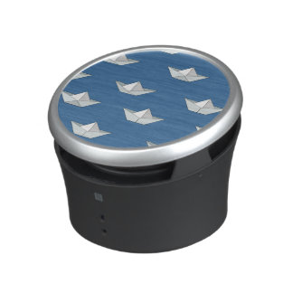 Origami Boats On The Water Pattern Speaker