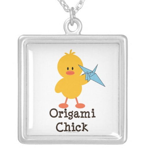 Origami Chick Necklace