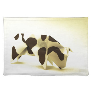 Origami cow cloth placemat