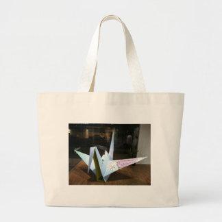 origami crane canvas bags