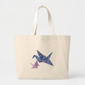 Origami Crane Canvas Bag