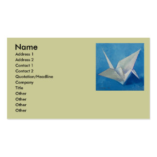 Origami Crane Business Card