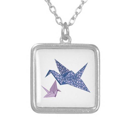 Origami Crane Custom Necklace