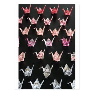 origami crane ornaments postcard