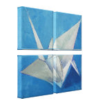 Origami Crane Painting Gallery Wrap Canvas