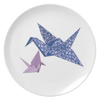Origami Crane Party Plates