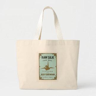 Origami Crane Vintage Japanese Silk Label Bags