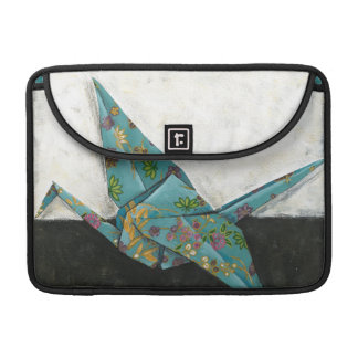 Origami Crane with Floral Designs MacBook Pro Sleeve