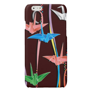 Origami cranes glossy iPhone 6 case