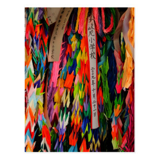 Origami Cranes in Hiroshima, Japan Postcard