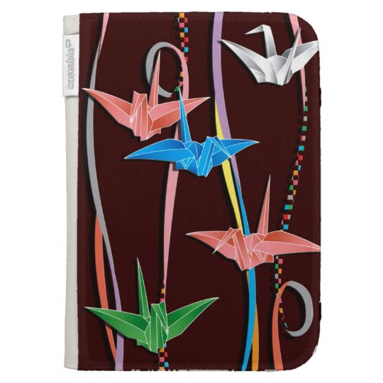 Origami cranes kindle keyboard cases