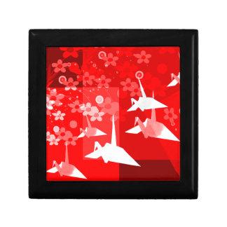 Origami Cranes la caja de la teja Caja De Regalo