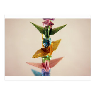 Origami Cranes & Stars Postcard