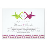 Origami Cranes Wedding Personalized Announcements