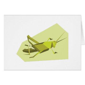 Origami Cricket Greeting Card