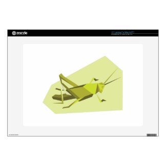 """Origami Cricket Decal For 15"""" Laptop"""