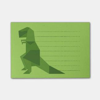 Origami de T-Rex Notas Post-it®
