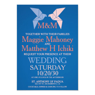 Origami Doves Wedding Invitations