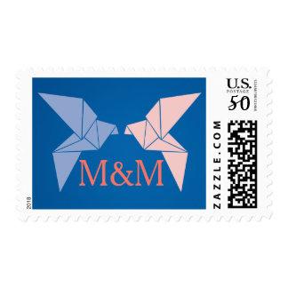 Origami Doves Wedding Postage