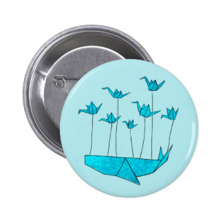 Origami Fail Whale Pinback Button