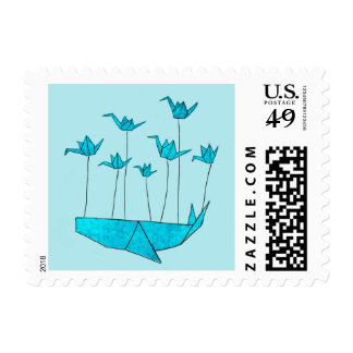 Origami Fail Whale Stamp
