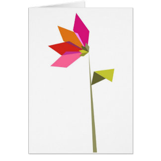 Origami  flower greeting card