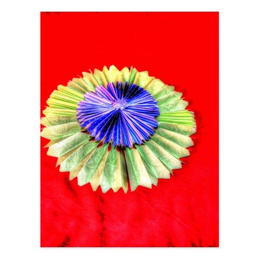 origami flower japanese paper art postcard zazzle