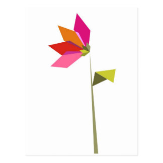 Origami  flower postcard