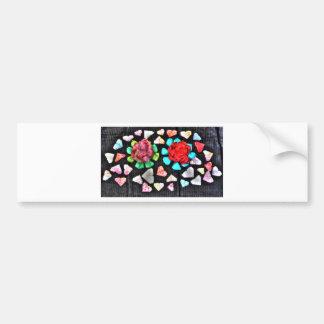 ORIGAMI FLOWERS & HEARTS JAPANESE PAPER ART BUMPER STICKER