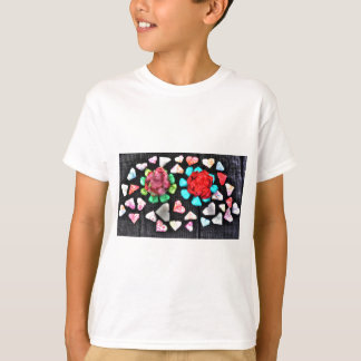 ORIGAMI FLOWERS & HEARTS JAPANESE PAPER ART T-Shirt