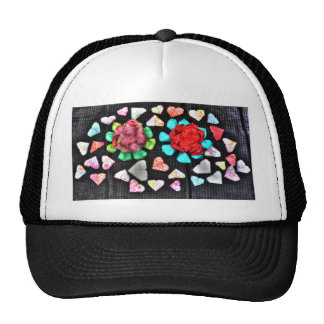 ORIGAMI FLOWERS & HEARTS JAPANESE PAPER ART TRUCKER HAT
